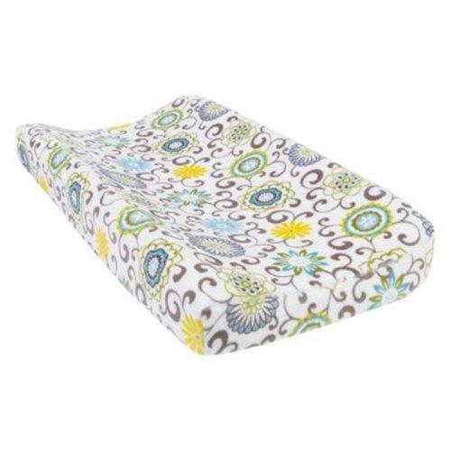 Trend-Lab 71242 Waverly Pom Pom Spa Plush Changing Pad Cover