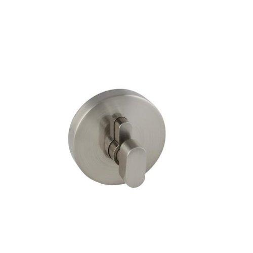 Emblem Round Single Cylinder Deadbolt, Satin Nickel