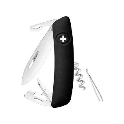 Swiza D03 Swiss Pocket Knife Multi-Tool Silver Blade - Black