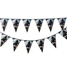 2PCS Halloween Design Triangle Flag Creative House Party Decor 22CM