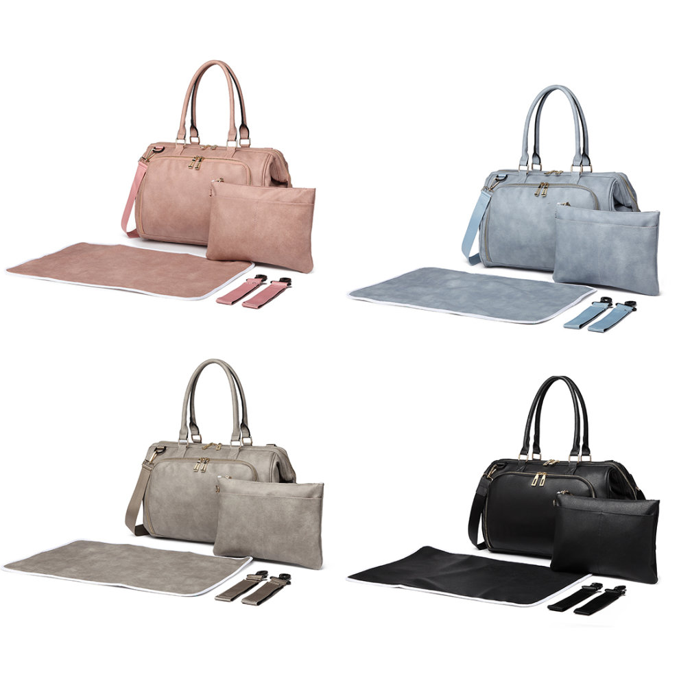 5c5c35246e6ce 3pc Miss Lulu Faux Leather Baby Changing Bag Set on OnBuy