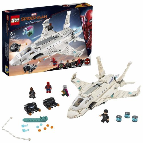LEGO Marvel Stark Jet and the Drone Attack Building Set 76130