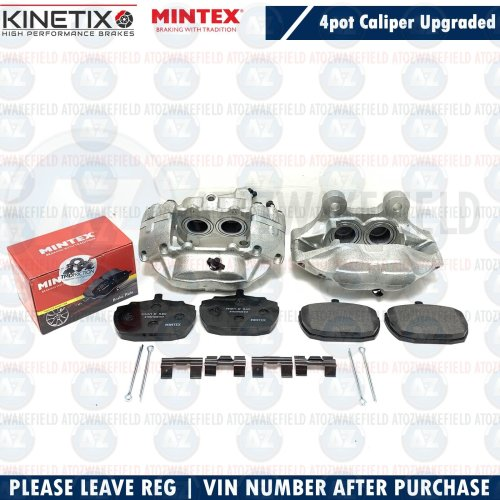 NEW Upgraded Austin Princess 4 Pot Brake Calipers & Pad Kit Escort Capri Triumph