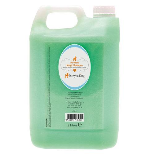 DezynaDog Magic Formula De-Matt Shampoo 5L - Restores Damaged Hair