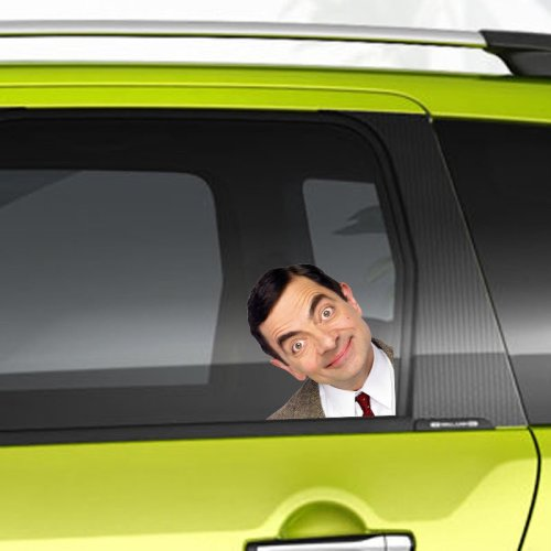 Mr Bean 'Funny Man On Board' Car Decal | Mr Bean Vinyl Sticker