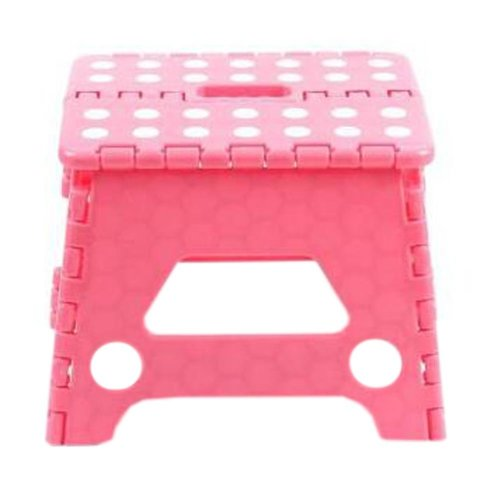 Creative Plastic Foldable Step Stool Portable Folding Stools Stepstool for Kids & Adults, No.7
