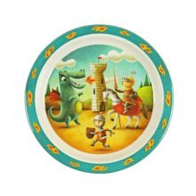 3 Pieces Of Fashion Cartoon Knight Pattern Drop Resistance Plate