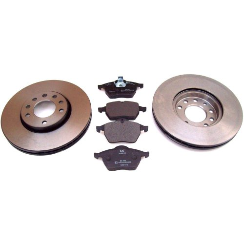 Vauxhall Opel Vectra B Calibra New Front Vented Brake Discs + Pads GM 93175482