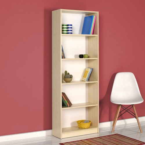 5 Tier Wooden Home Office Bookcase Bookshelf Display Shelving Unit