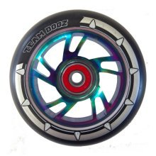 Team Dogz 100mm Alloy Swirl Wheels - PU Rainbow Core