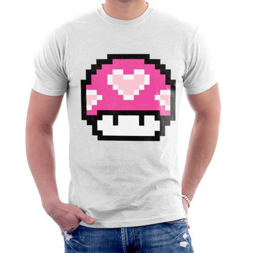 dd51e1c8c Super Mario Mushroom Heart Men's T-Shirt on OnBuy