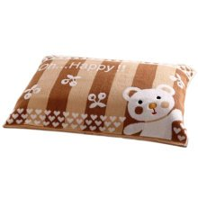 2 PCS Thicken Towel Soft Cotton Pillow Blanket Health Protector Best Skin Care-Coffee Bear