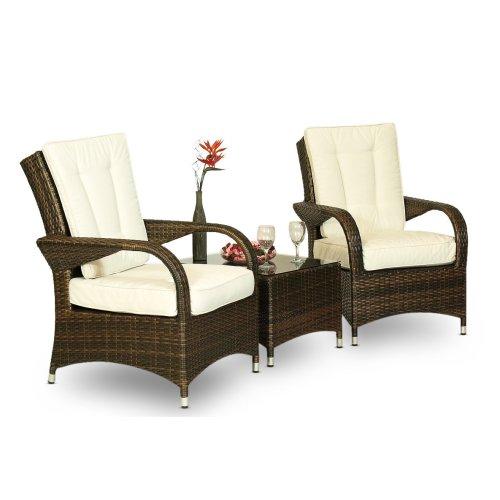 Arizona Rattan 2 Seat Lounger Garden Furniture Set