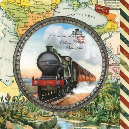 4 x Paper Napkins - Travel Engine  - Ideal for Decoupage / Napkin Art