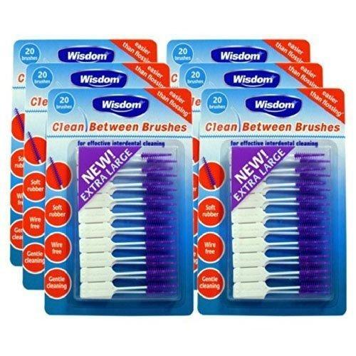 Wisdom Clean Between Interdental Large Purple Brushes - Pack of 6, Total 120