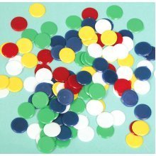 Multicoloured Playing Counters - 100 Pack
