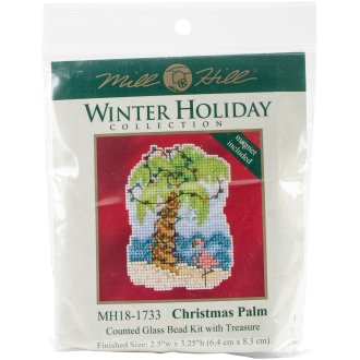 """Christmas Palm Counted Cross Stitch Kit-2.5""""X3.25"""" 14 Count"""