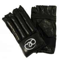 Extra Large Leather Fingerless Bag Gloves - Fitness Mad Boxing Mitt -  fitness mad fingerless leather bag boxing mitt