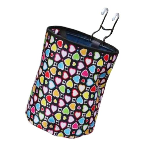 [Heart-1] Waterproof Canvas Bicycle Basket Foldable Basket for Bike