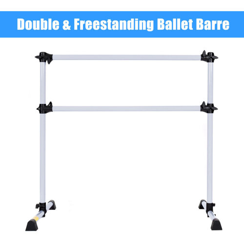 Double Ballet Barre Stretch Bar Portable Freestanding