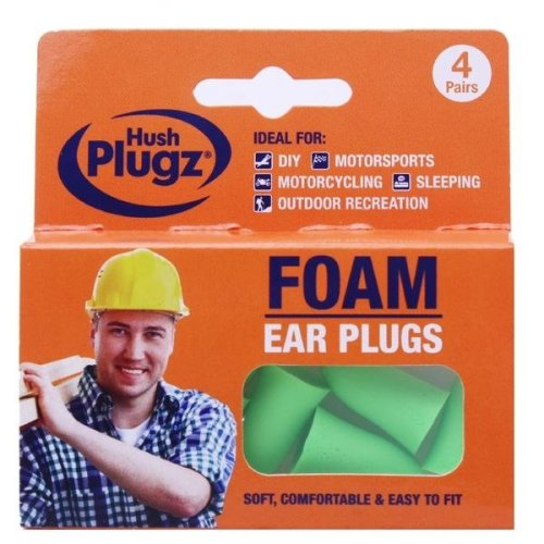 Hush Plugz Foam DIY Ear Plugs 4 Pairs