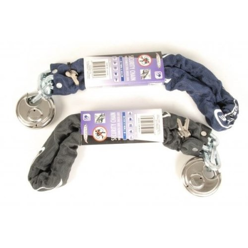 Security Chain With Stainless Steel Discus Lock For Bike, Bicycle, Trailer, Gate