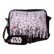 Star Wars VII The Force Awakens Trooper Army Messenger Bag, Black (Model No. CD108STW-MB)