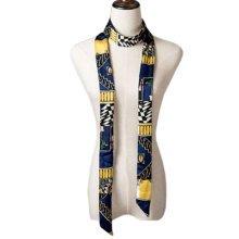2 PCS Elegant Silk Scarf Neckerchief Silks And Satins Scarves Narrow-band Waistband O