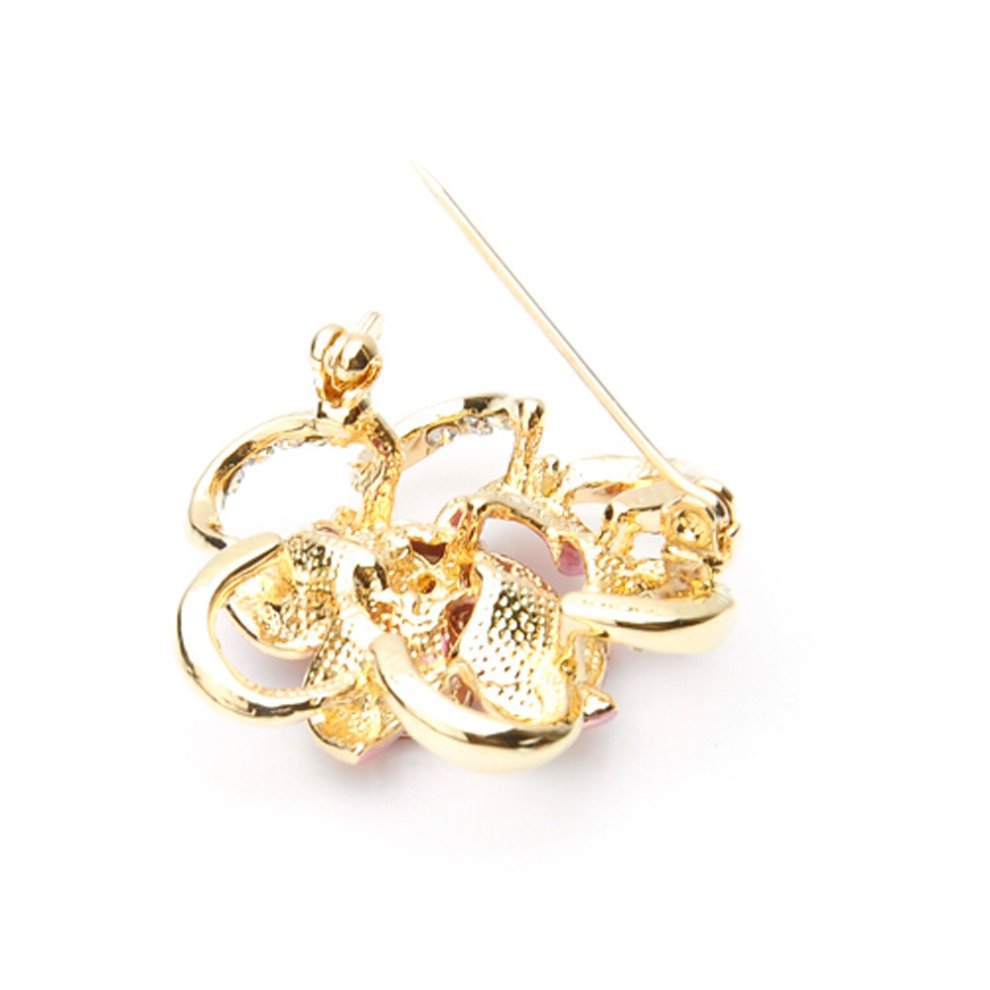 Fashion Diamond Flower Party Brooch Pin Suit Accessories BLUE