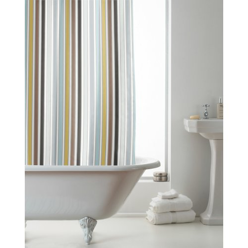 Country Club Hookless Shower Curtain, Stitch Stripe