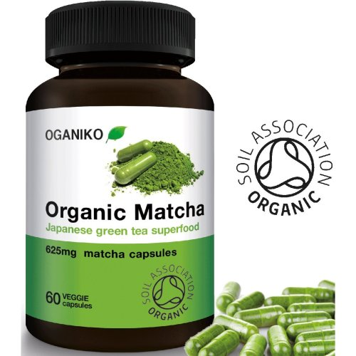Organic Matcha Green Tea Supplement from Japan - Powerful Antioxidant Energy Booster - 60 Easy-to-Swallow Vegan Capsules