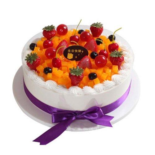 Window Sample Birthday Cake Model Pretend Fruit Decoration Simulation On OnBuy