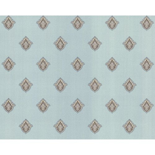 EDEM 9043-29 Baroque non-woven wallcovering shiny turquoise cream 10.65 sqm