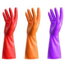 3 Pairs  Dish Washing Gloves Waterproof Gloves Cleaning Gloves Random Color