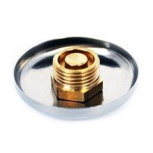 """Chrome Pipe Hole Cover Cap 1/2"""" Bsp Thread to Hide Cover Up to 55mm Diameter"""
