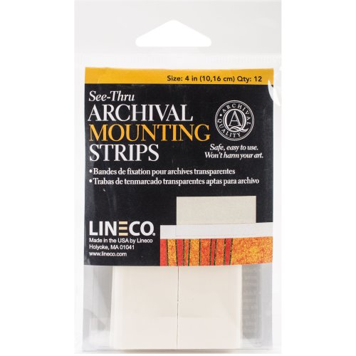 """Lineco See-Thru Archival Mounting Strips 12/Pkg-4"""""""