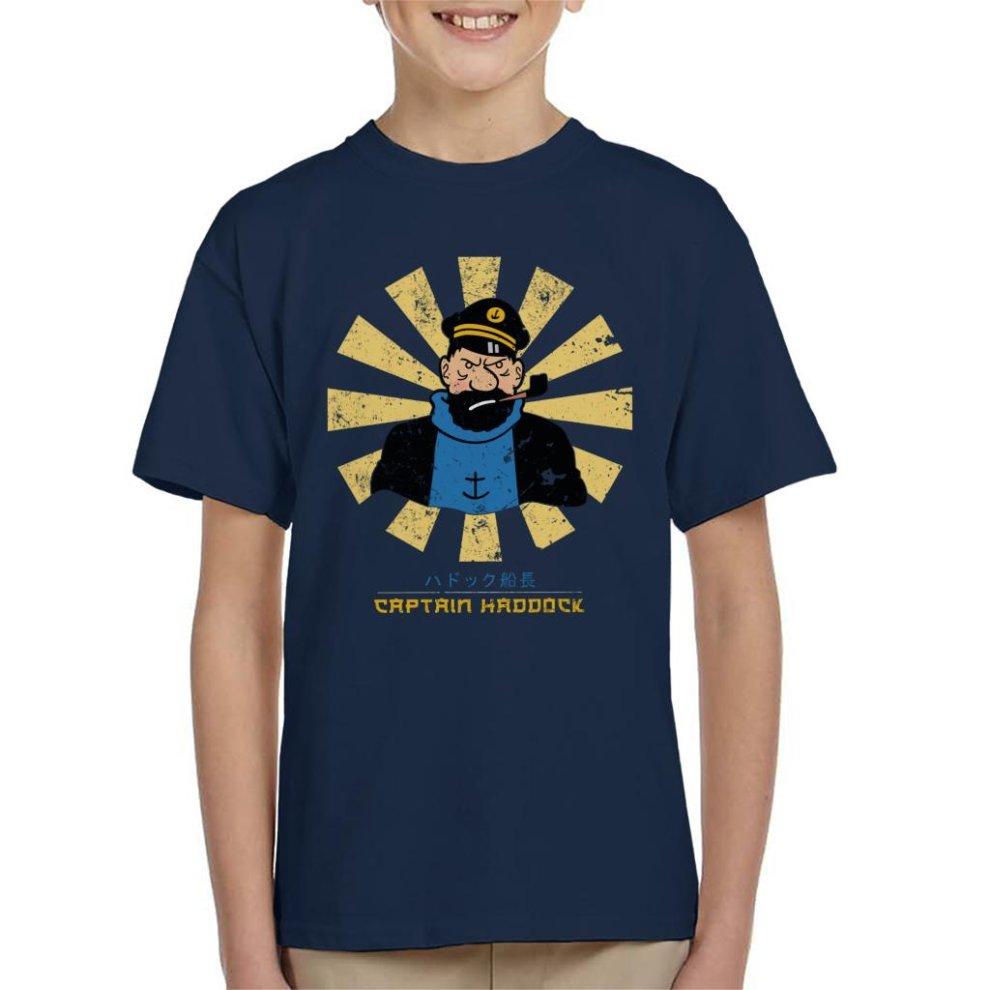 Captain Haddock Retro Japanese Tintin Kid's T-Shirt