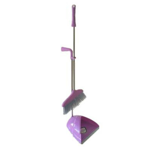 Durable Removable Broom and Dustpan Standing Upright Grips Sweep Set with Long Handle, #C12