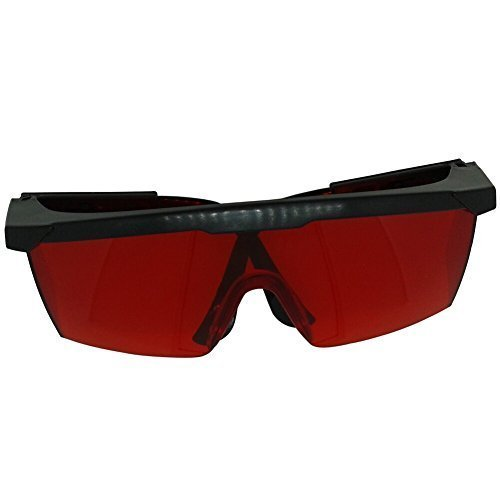 BIPEE Economical Laser Safety Goggles, Red Eye Protection Glasses with Frame,