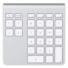 Belkin YourType PC/server Bluetooth Aluminium,White numeric keypad