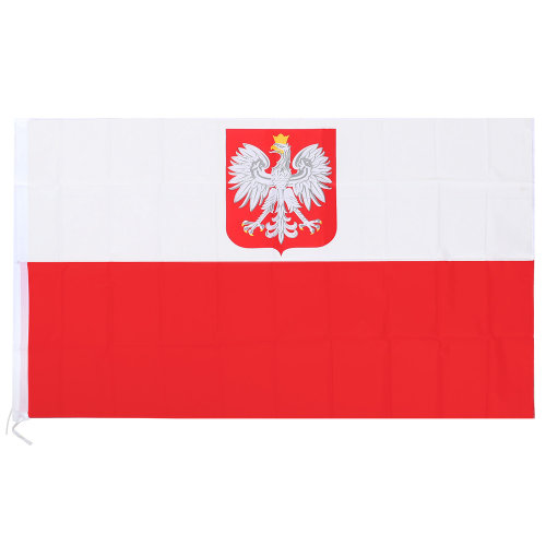 Large Poland National Flag with Rings Football Euro 90 x 150cm Hanging Banner