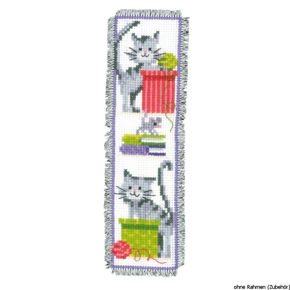 Multi-Colour Vervaco Bookmark Butterfly 1 Counted Cross Stitch Kit