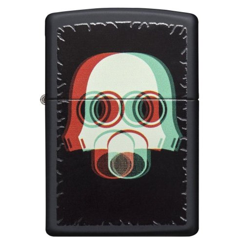 Nuclear Mask 3D Black Matte Zippo Lighter