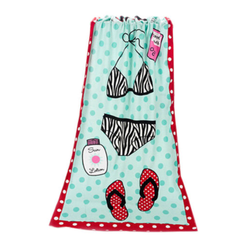 Large Soft Beach Towels 140*70cm, Bikini Pattern