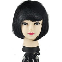 Women's Sexy Short Bob Cut Fancy Dress Wigs Play Costume Ladies Full Wig Party[Black]