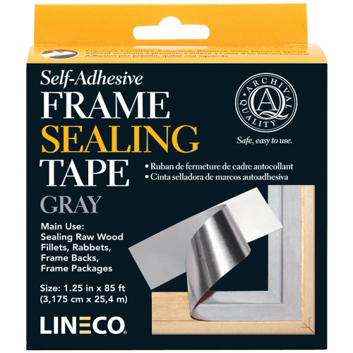 "Lineco Self-Adhesive Frame Sealing Tape-Blue/Gray 1.25""X85'"