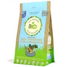 Beco Food - Msc Cod & Haddock With Kale And Chickpeas - 2kg - Natural Grain - -  beco food dog 2kg cod haddock dry complete