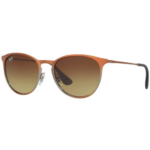 Ray-Ban ERIKA METAL Brown Gradient Unisex Sunglasses RB3539-193/13-54