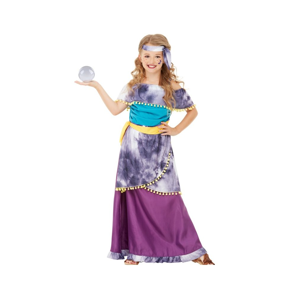 Children\u0027s Girls Fortune Teller Gypsy Fancy Dress Costume Age 10 , 12