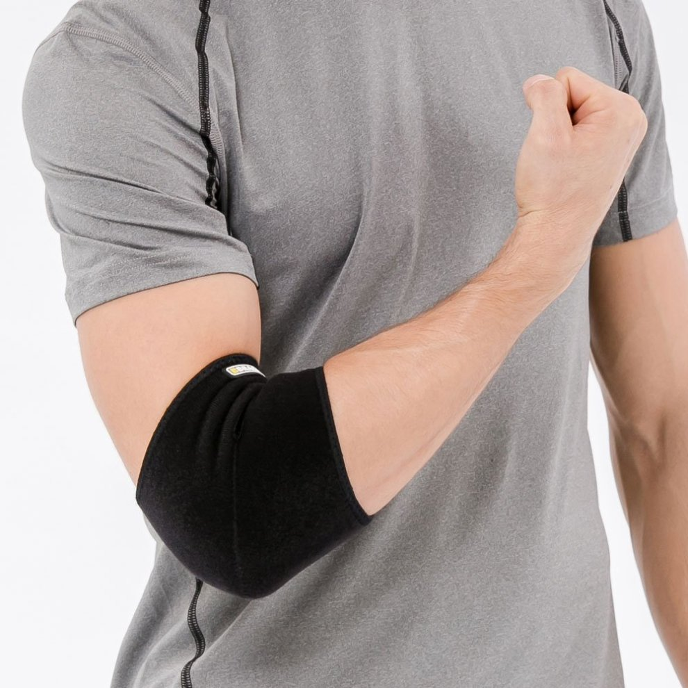 f9c1566224 ... Bracoo Neoprene Elbow Support, Easy Adjustable Wrap for Injury Recovery  - 2 ...